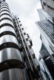 Lloyds i Willis budynki w London& x27; s centrum finansowe Fotografia Stock
