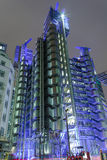 Lloyds of London at night Royalty Free Stock Photos