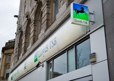 Lloyds TSB银行分行在利物浦 免版税库存照片