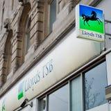 Lloyds TSB银行分行在利物浦 免版税图库摄影