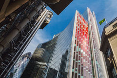 Lloyds and Willis buildings and the Gherkin, London Stock Photo
