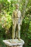 Bronze sculpture of a Majorcan man in LLuc botanical garden Stock Photo