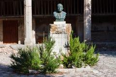 Statue of Majorcan poet Miquel Costa i Llobera at Santuari de Lluc Stock Photos