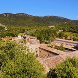 Lluc Sanctuary on Majorca Stock Image