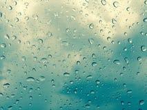 Llueva abajo la ventana Foto de archivo