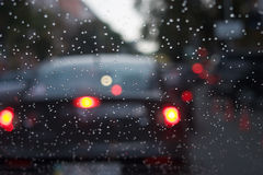 Llueva la conducción Imagen de archivo libre de regalías