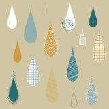 Llueva las gotas Imagen de archivo libre de regalías