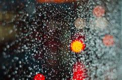 Llueva los descensos Fotos de archivo libres de regalías