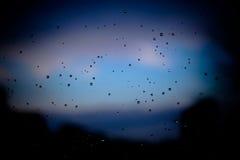 Llueva los descensos Foto de archivo libre de regalías