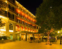 Lluminated facade of Hotel Hilton Imperial in Dubrovnik Royalty Free Stock Photo