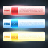 Lluminated option banners. Modern Illuminated infographic options banners, box design Royalty Free Stock Photography