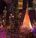 Llumination de la luz de la Navidad y del Año Nuevo Imagen de archivo