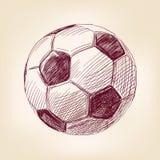 Llustration вектора футбольного мяча нарисованное рукой Стоковая Фотография
