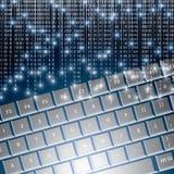 Llustration высокотехнологичной клавиатуры с бинарным немеет Стоковое Фото