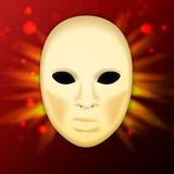 Llustration av den realistiska karneval- eller teatermaskeringen Royaltyfri Bild
