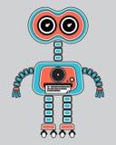 Llustration av en tappningrobot Vektor Illustrationer