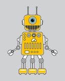 Llustration av en tappningrobot Stock Illustrationer
