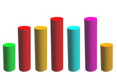 Llustration of bar graph in many colors Royalty Free Stock Photo