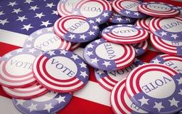 llustration 3d des goupilles de campagne présidentielle Image stock