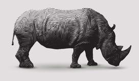 Llustration del rinoceronte di vettore Immagini Stock Libere da Diritti