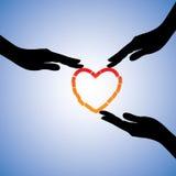Llustration di guarigione del cuore rotto Fotografia Stock Libera da Diritti