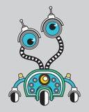Llustration di un robot d'annata Fotografia Stock
