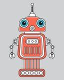 Llustration di un robot d'annata Fotografia Stock Libera da Diritti