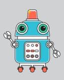 Llustration di un robot d'annata Immagini Stock
