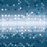 Llustration of high tech keyboard Royalty Free Stock Photography