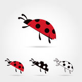 Llustration of the ladybu Stock Image