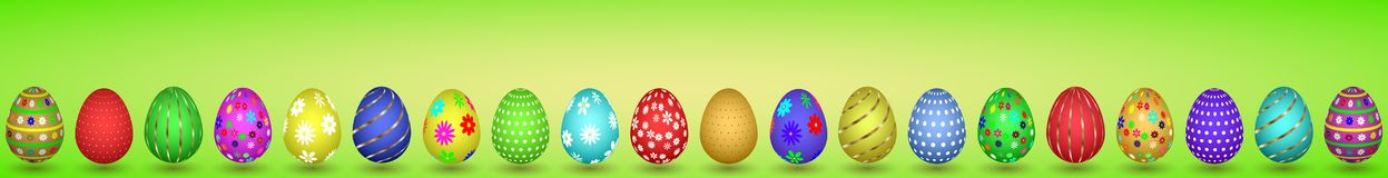 llustration of ntwenty easter eggs Royalty Free Stock Photos