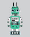 Llustration rocznika robot Fotografia Royalty Free