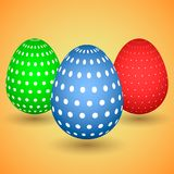 llustration of three easter eggs Stock Image