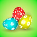 llustration of three easter eggs Stock Photos