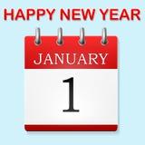 Llustration van de kalender in Januari stock illustratie