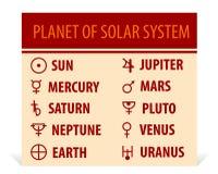 Llustration van verschillende astrologische symbolen Stock Foto's