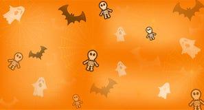 Llustrationachtergrond voor Halloween-festiviteiten stock illustratie
