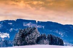Lluvia ácida sobre las montañas Foto de archivo libre de regalías