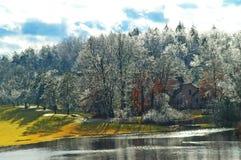 Lluvia congelada Imágenes de archivo libres de regalías