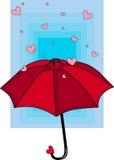 Lluvia de corazones Foto de archivo libre de regalías