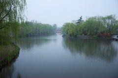 Lluvia de Daming Lake Imagen de archivo