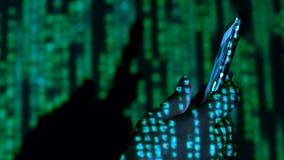Lluvia de Digitaces en la mano humana almacen de video