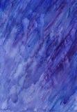 Lluvia de la acuarela Fotografía de archivo