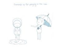 Lluvia de la diversión del verano ilustración del vector
