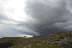 Lluvia de la montaña Fotos de archivo