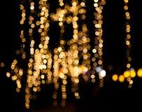 Lluvia de la Navidad de las luces Fotografía de archivo