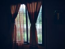 Lluvia de la ventana Foto de archivo