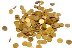 Lluvia de las monedas de oro. Fotos de archivo libres de regalías