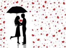 Lluvia de love2. Fotografía de archivo libre de regalías