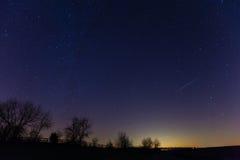 Lluvia de meteoritos Fotografía de archivo